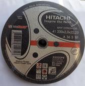 Круг отрезной 230x2х22 HITACHI premium
