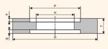 Круг шлифовальный с выточкой 7 300x100x127 25A 60 K-P